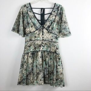 Free People Floral Rose Strappy Dress